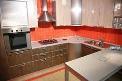 Red kitchen Stock Photos