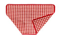 Red checkered napkin. Red kitchen checkered napkin. Well seen pattern Royalty Free Stock Photos