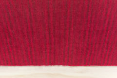 Red kitchen fabric napkin with stripes - background mockup with Royalty Free Stock Photo