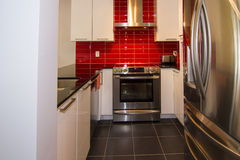 Red kitchen Royalty Free Stock Image