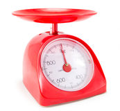 Red Kitchen Scale Royalty Free Stock Photo
