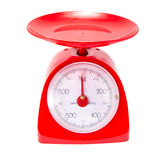 Red Kitchen Scale Stock Photo