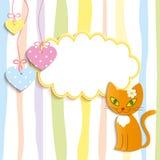 Red kitten - illustration,  Stock Photos