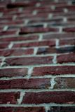 Red Klinker Brick - Close up / Blur Royalty Free Stock Image
