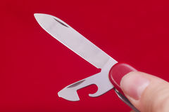 Red knife Royalty Free Stock Photo