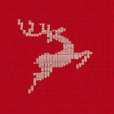 Red Knit Background Reindeer Royalty Free Stock Images