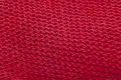 Red Knit Background Texture Stock Photos