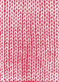 Red  knit background Stock Photography