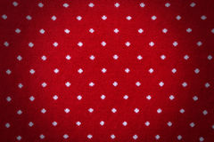Red knit with polka dot background Royalty Free Stock Photo