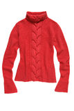 Red knit sweater Stock Image