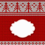 Red knitted background Stock Photography