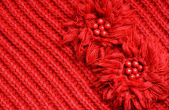 Red knitted background Royalty Free Stock Images