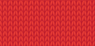 Red knitted background. Vector illustration EPS 10 Royalty Free Stock Photos
