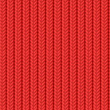 Red knitted background Royalty Free Stock Photography