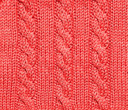 Red knitted background Stock Photos