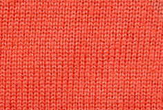 Red knitted fabric texture Royalty Free Stock Photo