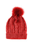 Red knitted hat Stock Photo