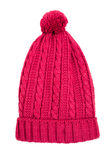 Red knitted hat Royalty Free Stock Photo