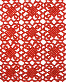 Red knitted lace fabric Royalty Free Stock Images