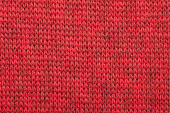 Red knitted melange textile pattern Stock Image