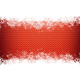 Red knitted narrow band background for winter Stock Photo