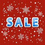 Red knitted pattern with sale Stock Photo