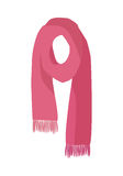 Red Knitted Scarf Isolated on White Background Royalty Free Stock Photo