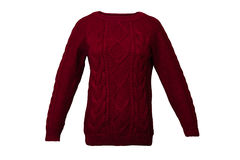 Red knitted sweater Stock Photography