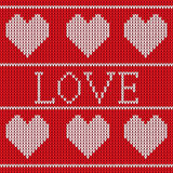 Red knitted sweater pattern Royalty Free Stock Image