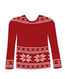 Red knitted sweater royalty free stock image