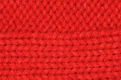 Red Knitted texture, wool, crafts Stock Photography