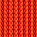 Red knitted vector seamless pattern Stock Image