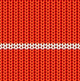 Red knitted vector seamless pattern Stock Photos