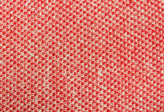 Red Knitting or Knitted Fabric Texture Pattern Background Royalty Free Stock Image