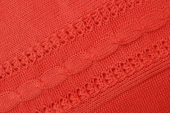 Red knitwear Royalty Free Stock Image