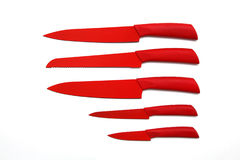 Red knives Royalty Free Stock Photo