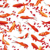 Red koi carps seamless vector print Stock Image