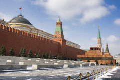 The red Kremlin wall in Moscow Royalty Free Stock Photo