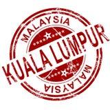 Red Kuala Lumpur stamp Royalty Free Stock Images