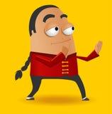 Red Kungfu Master. Vector illustration Stock Photo