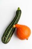 Red kuri pumpkin and Summer squash Stock Images