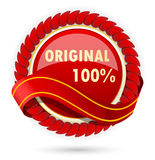 Red label Royalty Free Stock Photos