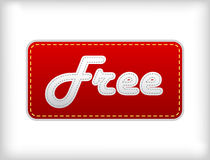 Red label with free text. Royalty Free Stock Image