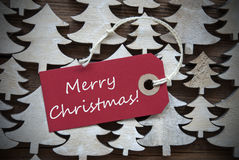 Red Label With Merry Christmas Royalty Free Stock Photography