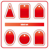 Red Label Set Royalty Free Stock Images
