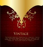 Red Label Template. Vector Royalty Free Stock Photography