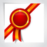 Red label. Vector illustration Royalty Free Stock Images