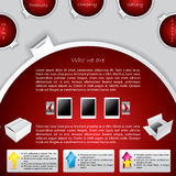 Red labeled website template design Royalty Free Stock Photo