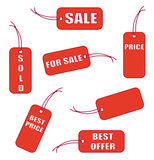 Red labels Royalty Free Stock Photo