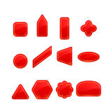 Red Labels And Stickers Set Stock Image
